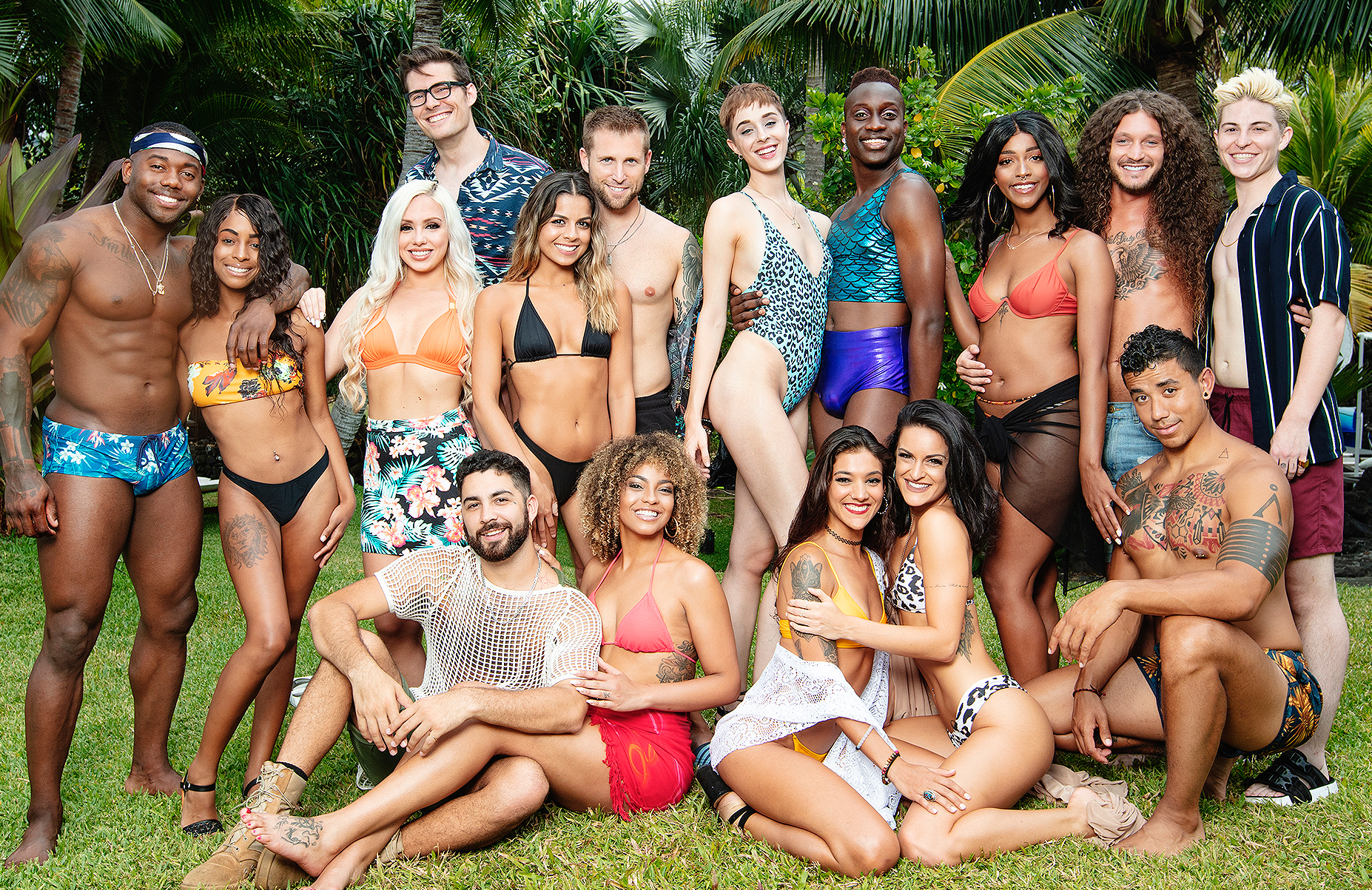 The sexually fluid cast of this season's Are You the One? is the first of its kind in the U.S. (Photo: Brian Bielmann/MTV)