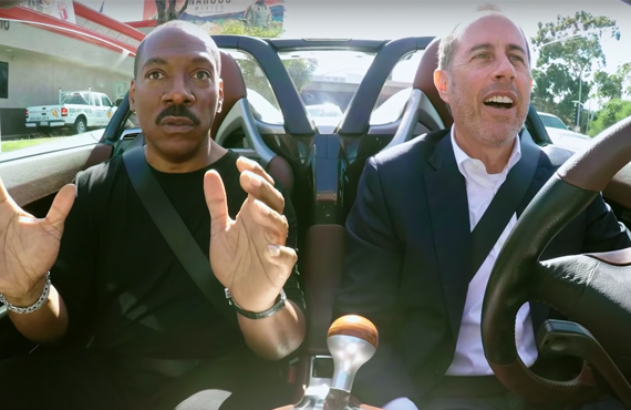 Eddie Murphy and Jerry Seinfeld in Comedians in Cars Getting Coffee (Netflix)