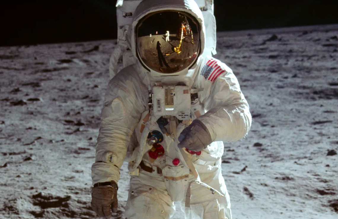 Buzz Aldrin walks on the surface of the moon during the Apollo 11 mission. (Photo: Neil Armstrong/NASA)