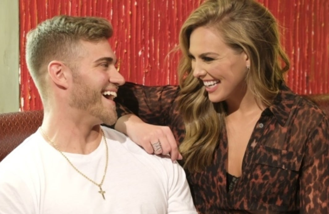 The Bachelorette's Luke Parker and Hannah Brown in happier times. (Photo: ABC)