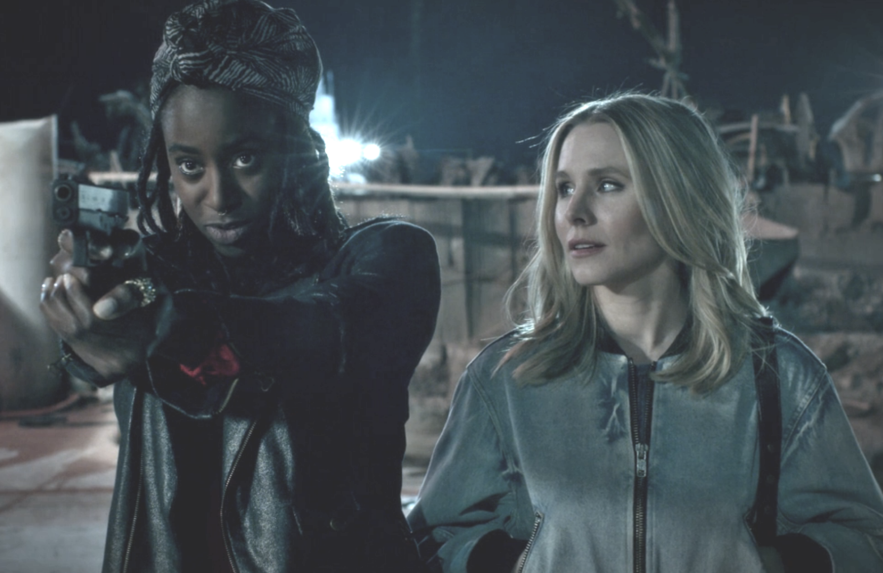 Kirby Howell-Baptiste and Kristen Bell in Veronica Mars (Hulu)