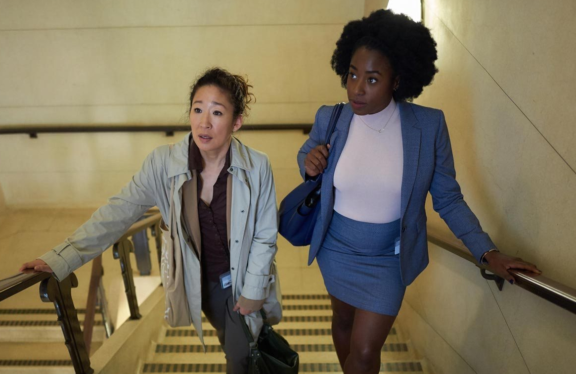 Sandra Oh with Howell-Baptiste in Killing Eve (BBC)