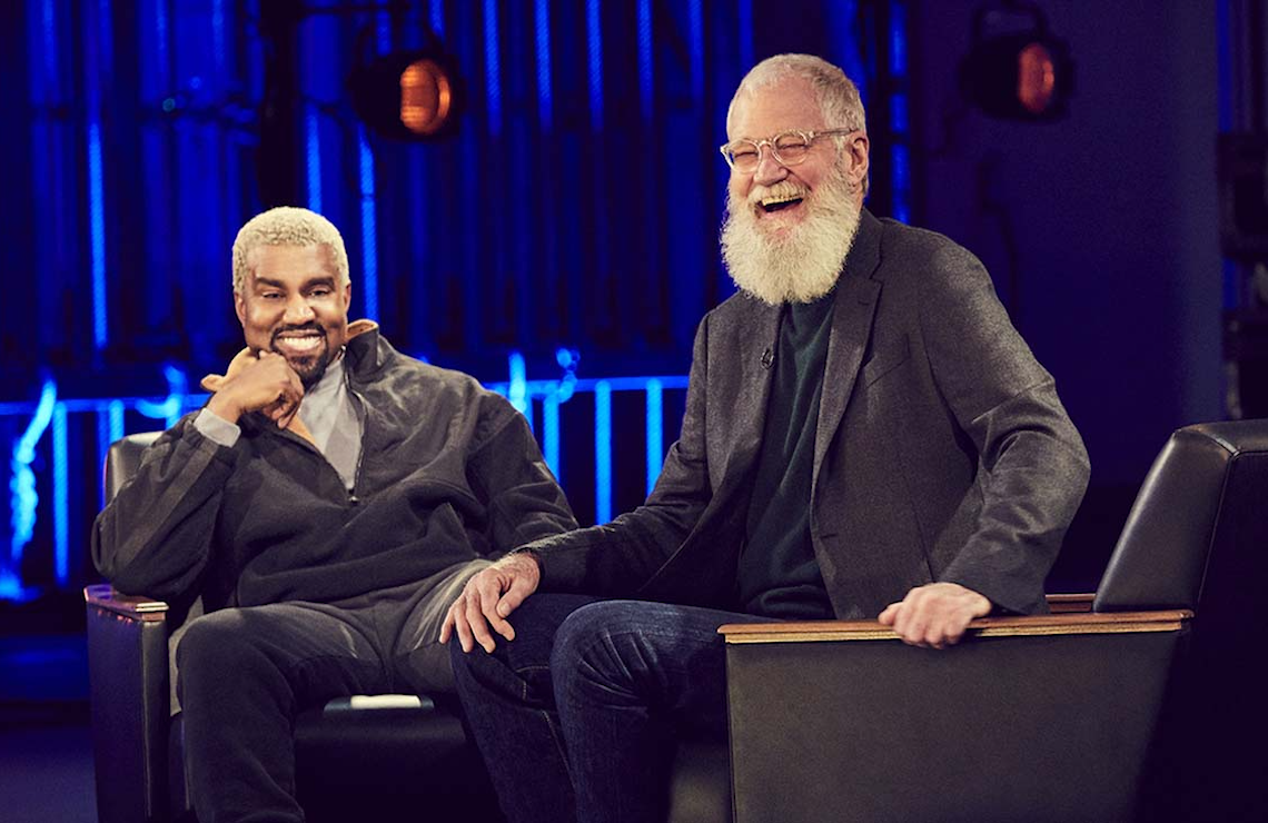 David Letterman, seen here during his interview with Kanye West, is having no trouble generating buzz for his show, My Next Guest Needs No Introduction. (Netflix)