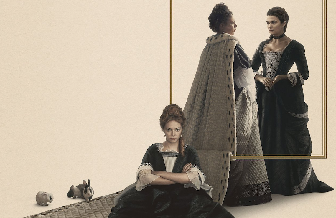 Emma Stone, Olivia Colman, and Rachel Weisz in The Favourite (Fox Searchlight Pictures)