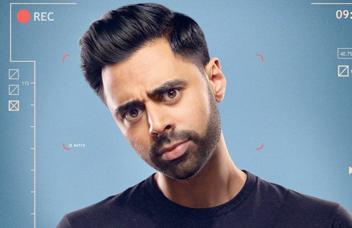 Hasan Minhaj in a promotional image for Patriot Act with Hasan Minhaj (Netflix)