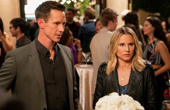 Jason Dohring and Kristen Bell in the fourth season revival of  Veronica Mars (Hulu)