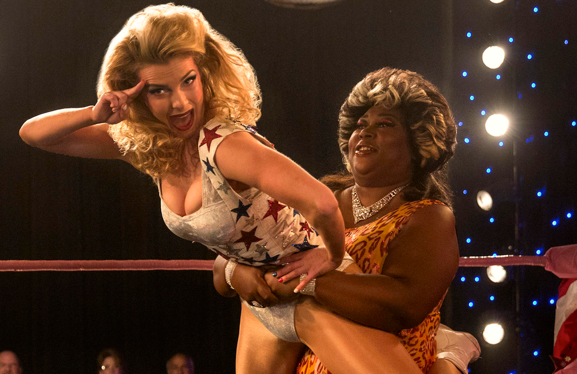 Debbie (Betty Gilpin) and Tammé (Kia Stevens) on GLOW (Netflix)