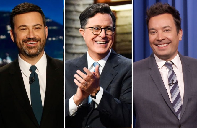 "Jimmy Kimmel, Stephen Colbert and Jimmy Fallon are three of the late night hosts scheduled to welcome a special ""surprise guest"" on their shows this coming Thursday night."