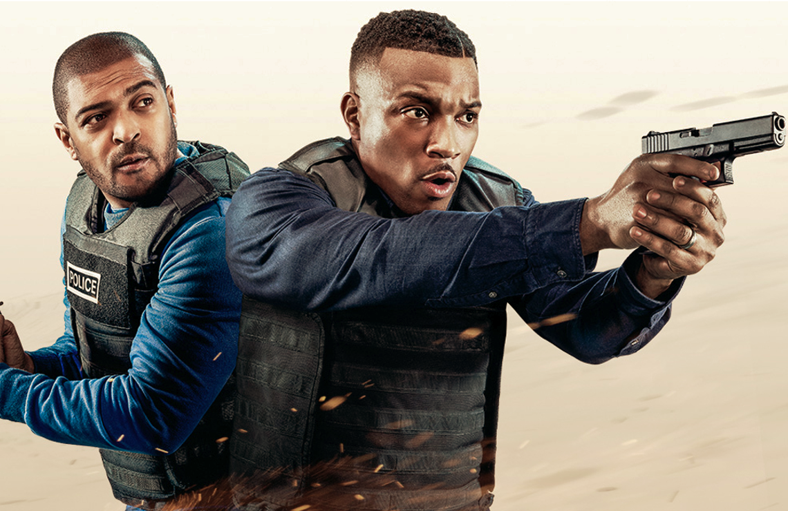 Ashley Walters and Noel Clarke star in the buddy-cop-film-inspired series Bulletproof. (CW)