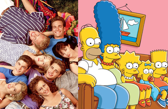 Beverly Hills, 90210 and The Simpsons were the centerpiece of Fox's attempt to take on NBC's Thursday night dominance back in 1990..
