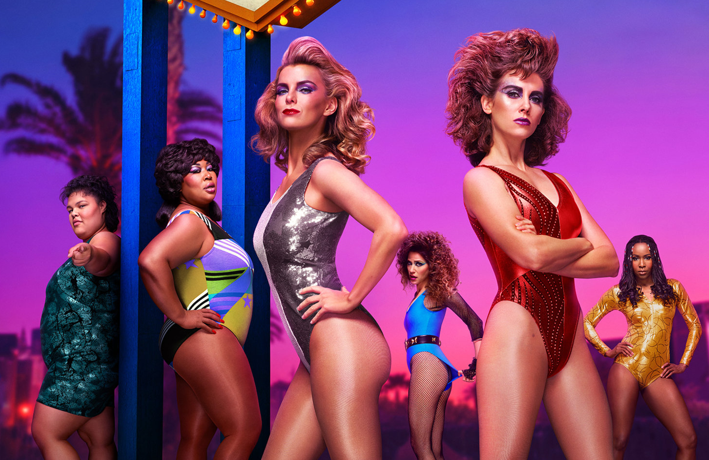 GLOW returns for its third season with a new setting and huge guest star.(Netflix)