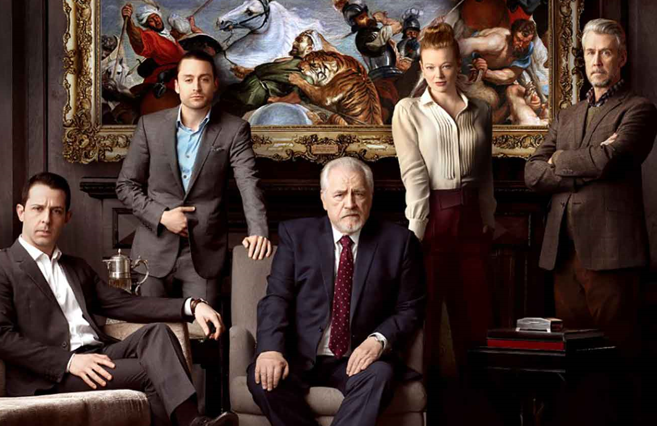 Jeremy Strong, Kieran Culkin, Brian Cox, Sarah Snook and Alan Ruck in Succession (HBO)