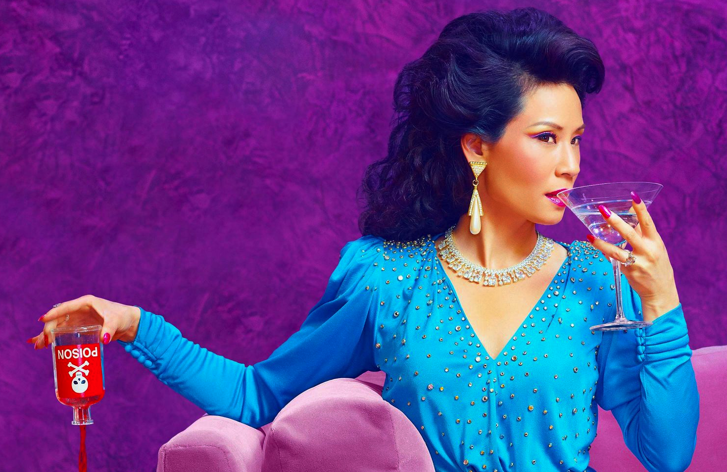 Lucy Liu in a promotional photo for Why Women Kill (CBS All Access)