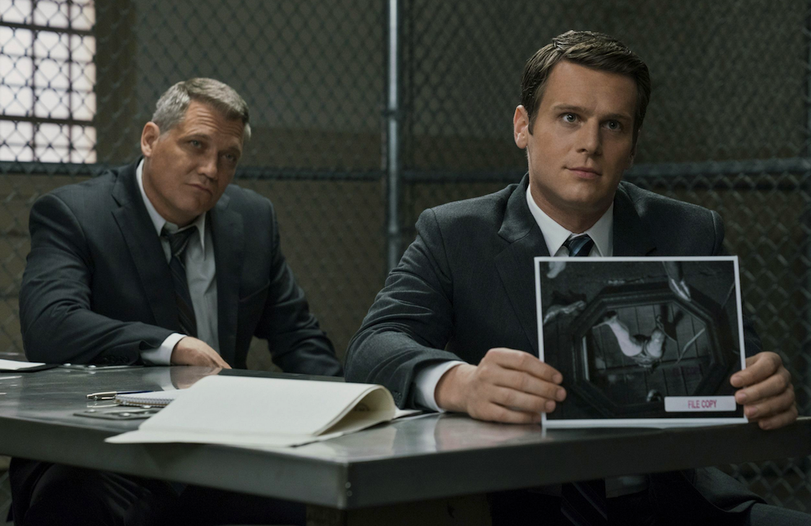 Holt McCallany and Jonathan Groff star in Mindhunter (Netflix)