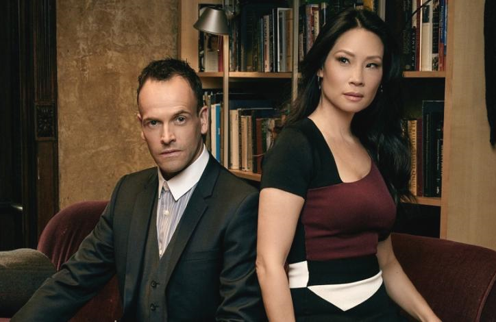 Jonny Lee Miller and Lucy Liu in Elementary (CBS)