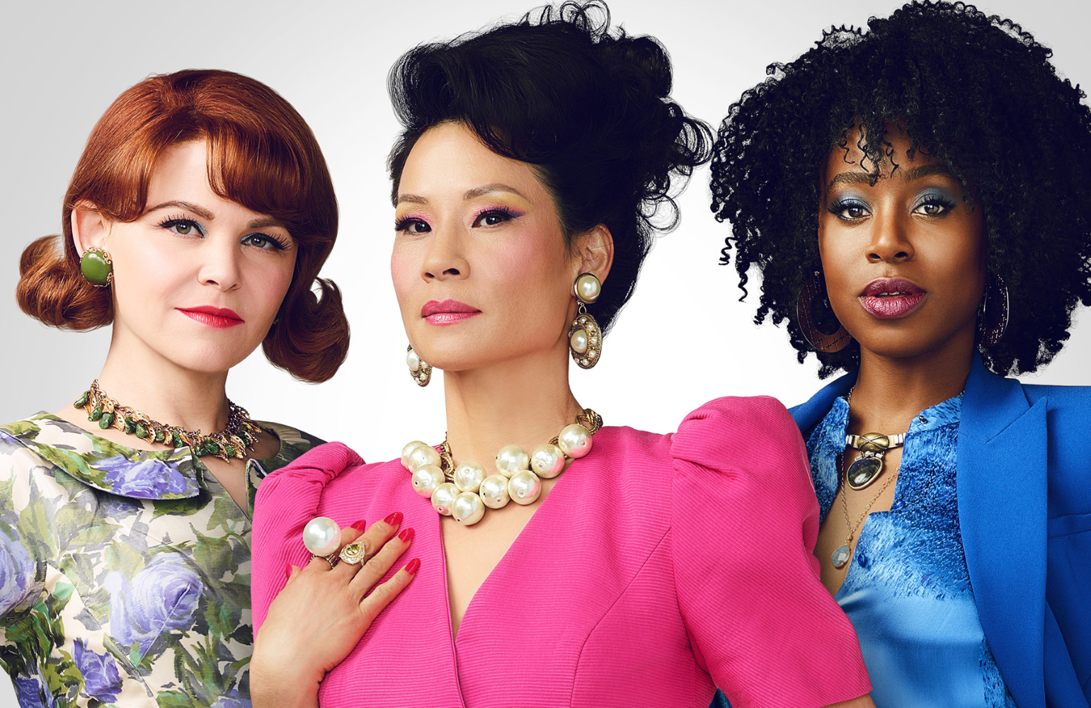 Ginnifer Goodwin, Lucy Liu, and Kirby Howell-Baptiste star in Why Women Kill (CBS All Access)
