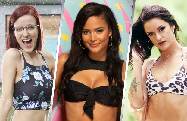 Nicole Anthony of Big Brother, Kyra Green of Love Island and Jenna Brown of Are You the One? (Photos: CBS and MTV)
