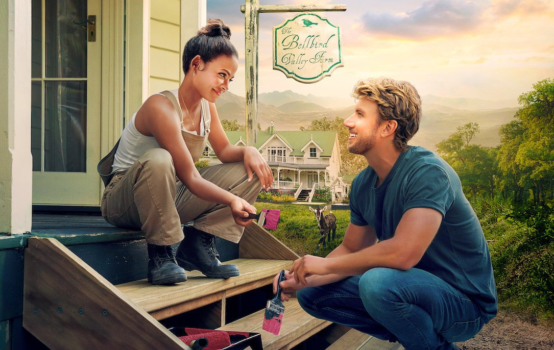 Christina Milian and Adam Demos in Falling Inn Love (Netflix)