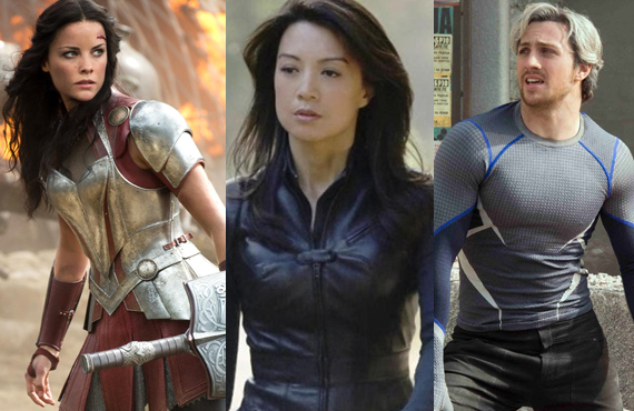 Jamie Alexander, Min-Na Wen and Aaron Taylor-Johnson (ABC, Marvel)