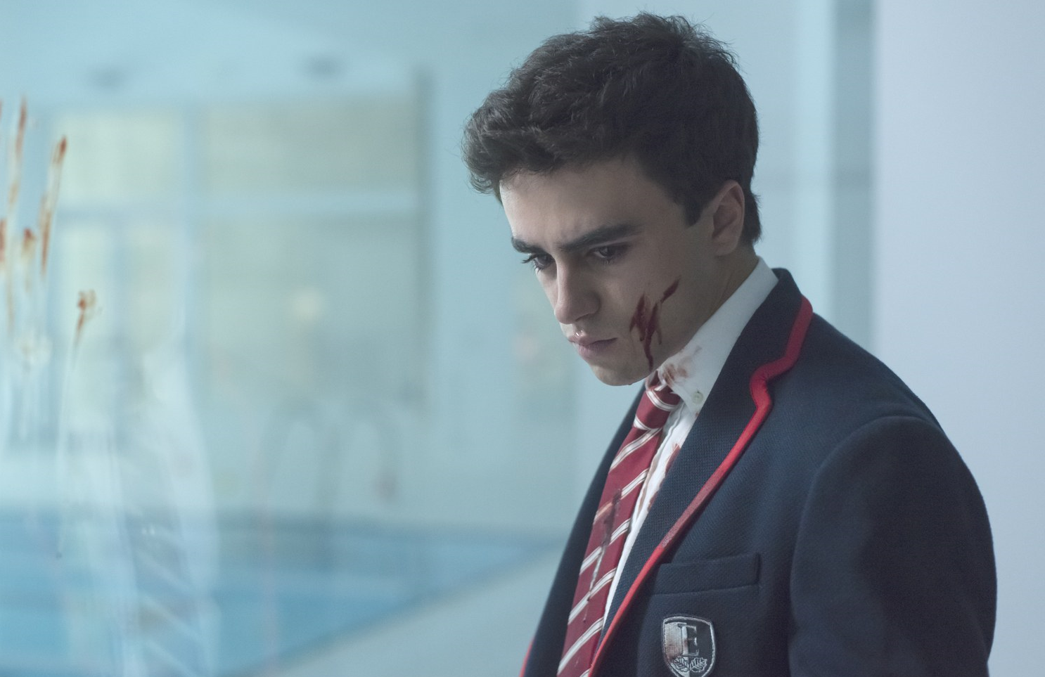 Samuel (Itzan Escamilla) makes a grisly discovery. (Netflix)