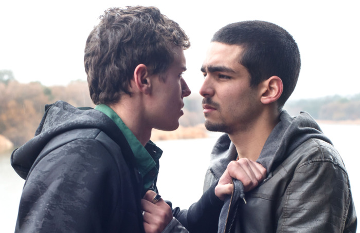Aron Pipera as Ander and Omar Ayuso as Omar in Elite. (Netflix)