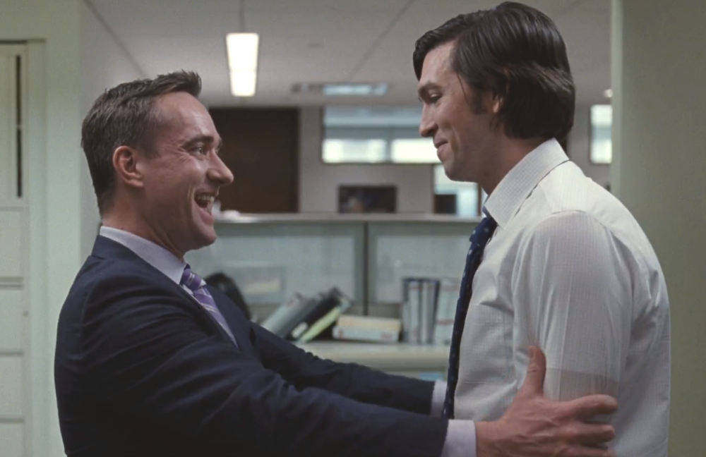 Tom (Matthew Macfadyen) and Greg (Nicholas Braun) in this week's episode of Succession (HBO)