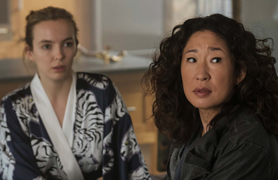 Jodie Comer and Sandra Oh in Killing Eve (BBC America)