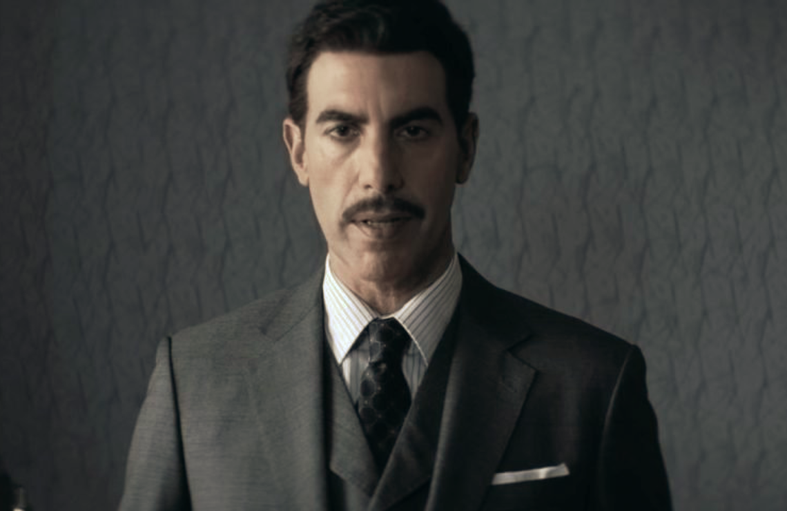Sacha Baron Cohen is Eli Cohen in The Spy (Netflix).