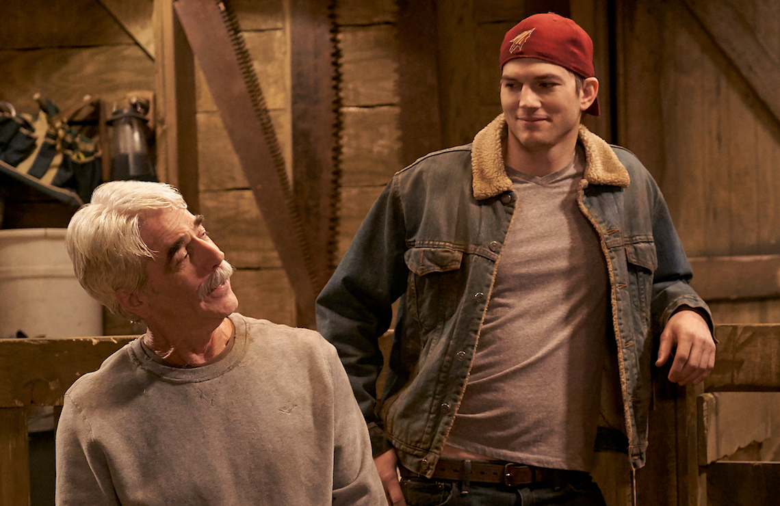 Sam Elliott and Ashton Kutcher in The Ranch (Netflix)