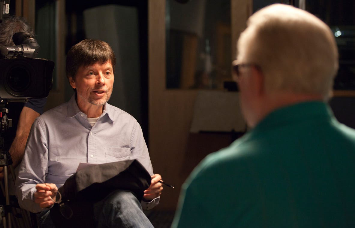 Ken Burns interviews Billy Sherrill for Country Music. (Photo: Craig Mellish/Florentine Films)