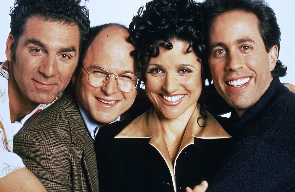 Michael Richards, Jason Alexander, Julia Louis-Dreyfus and Jerry Seinfeld in a 90s-era promotional image for Seinfeld. (Andrew Eccles/NBC)