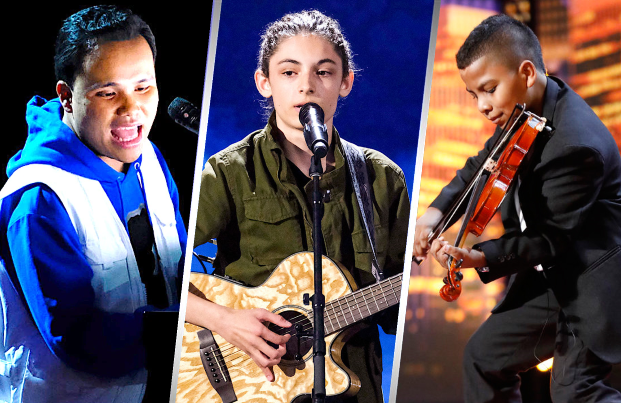 Kodi Lee, Benecio Bryant, and Tyler Butler-Figueroa are among the ten finalists performing tonight on America's Got Talent. (NBC)