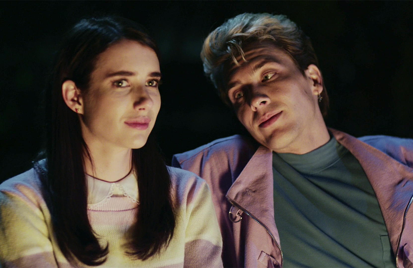 Emma Roberts and Cody Fern in American Horror Story: 1984 (FX)