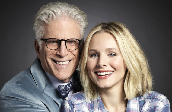 The Good Place's Ted Danson and Kristen Bell (NBC)