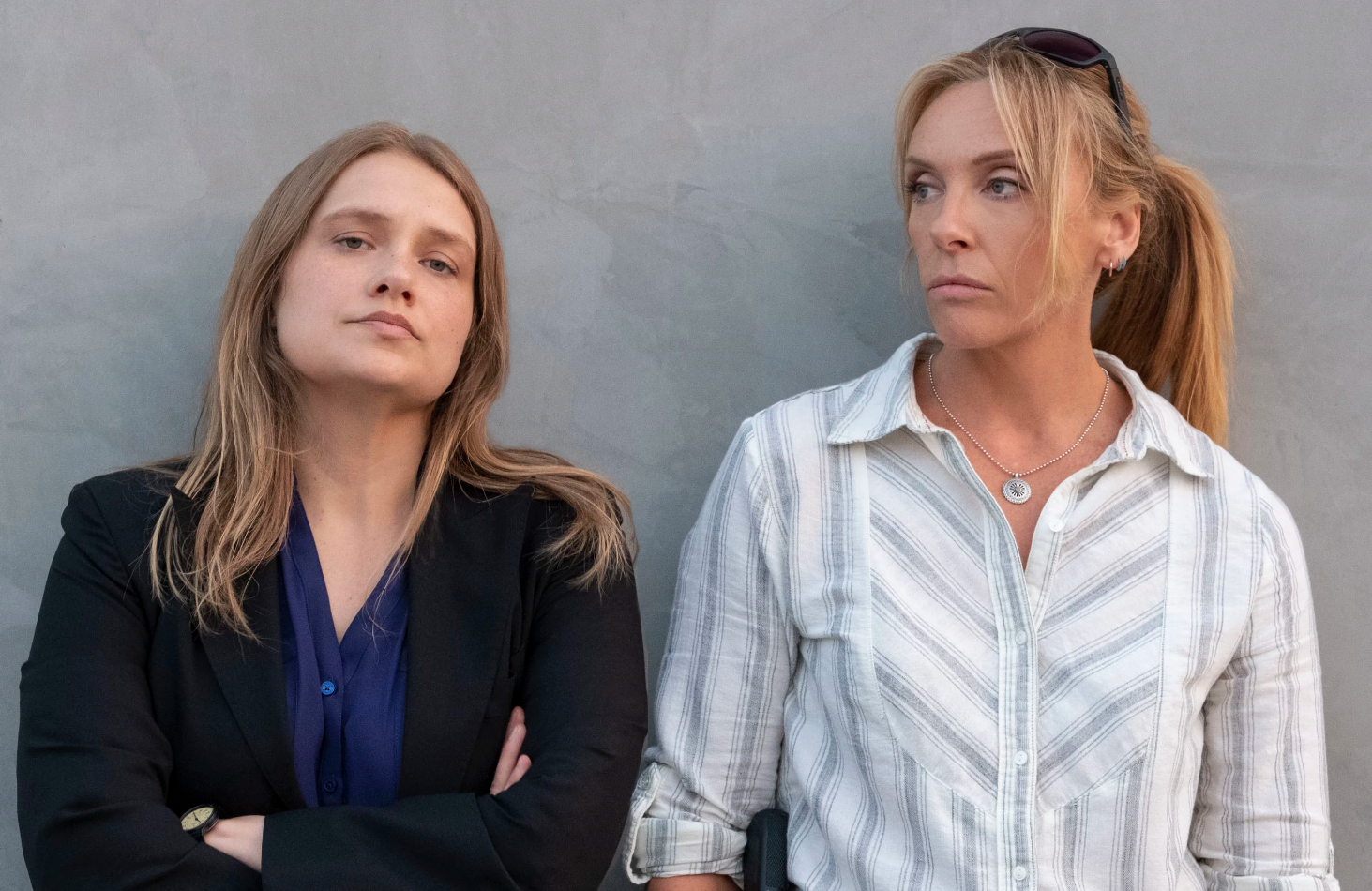 Merritt Wever and Toni Collette as detectives Karen Duvall and Grace Rasmussen  in Unbelievable (Netflix)