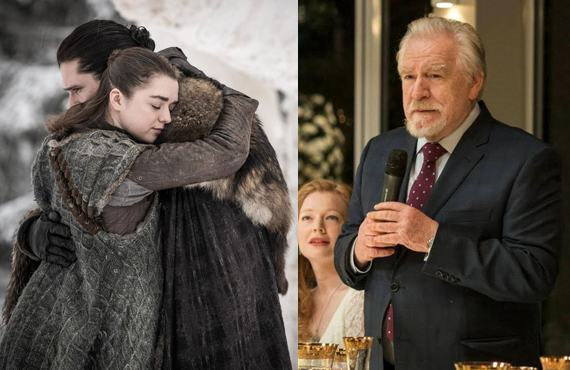 While Game of Thrones is still favored to win Outstanding Drama Series, Succession has seen its odds increase dramatically since nomination day. (HBO)