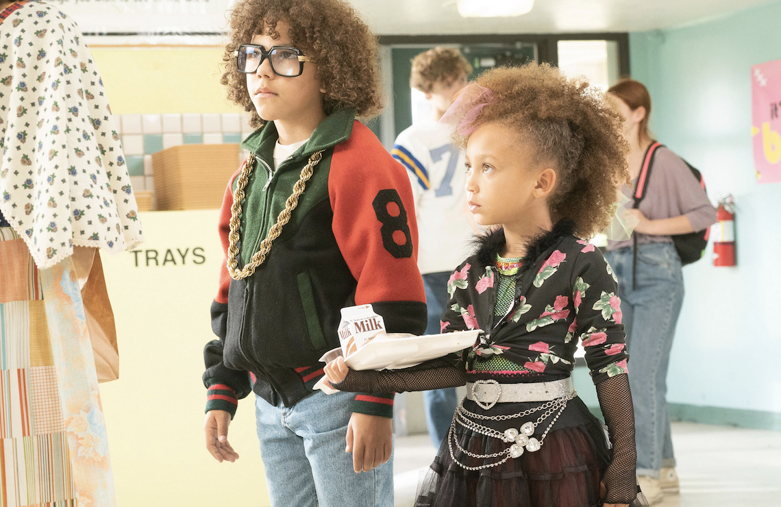 Mykal-Michelle Harris and Ethan William Childress star in <i>Mixed-ish</i> (ABC)