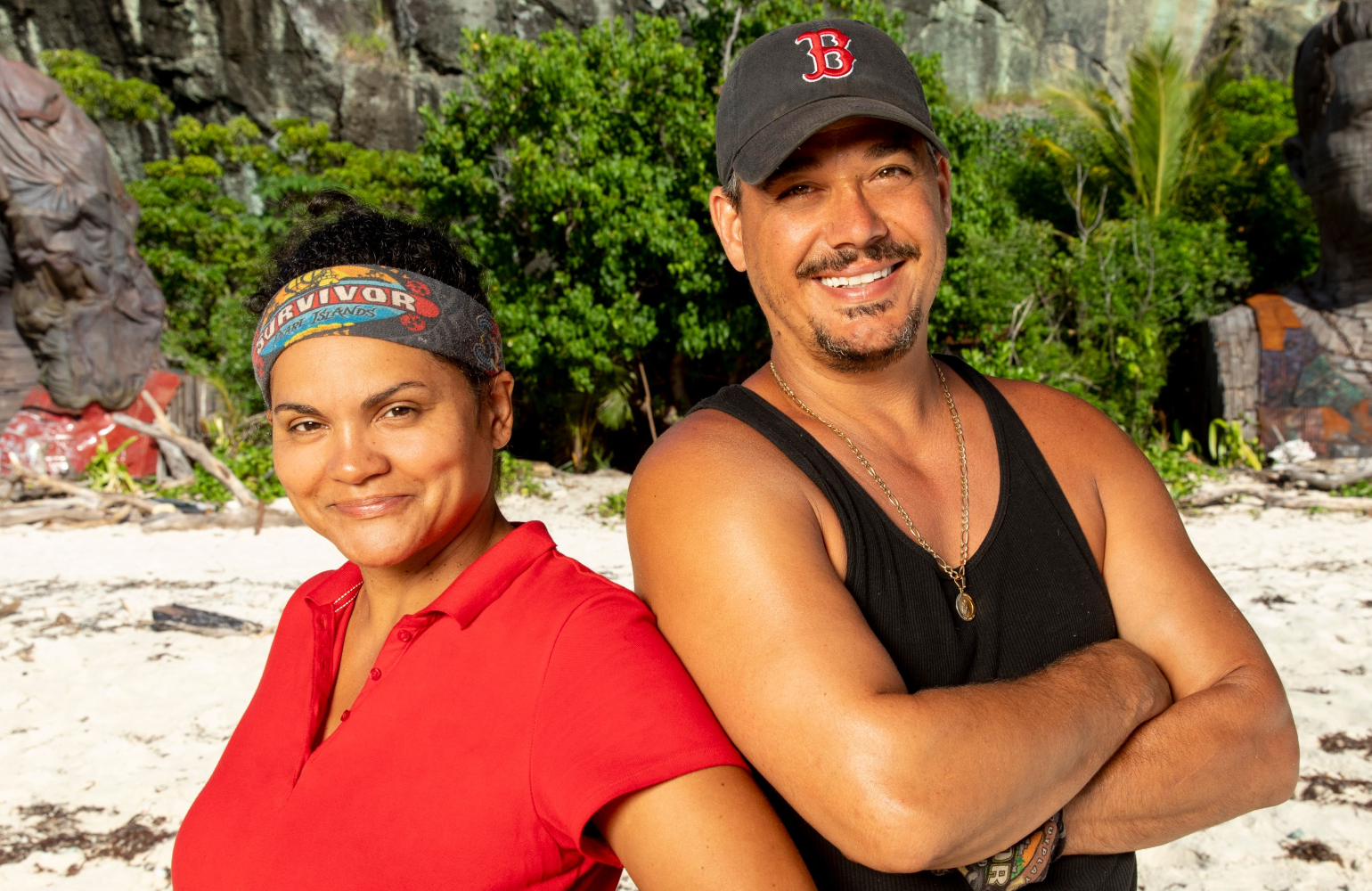 Sandra Diaz-Twine and Rob Mariano are back on the beach in Survivor: Island of the Idols (CBS)