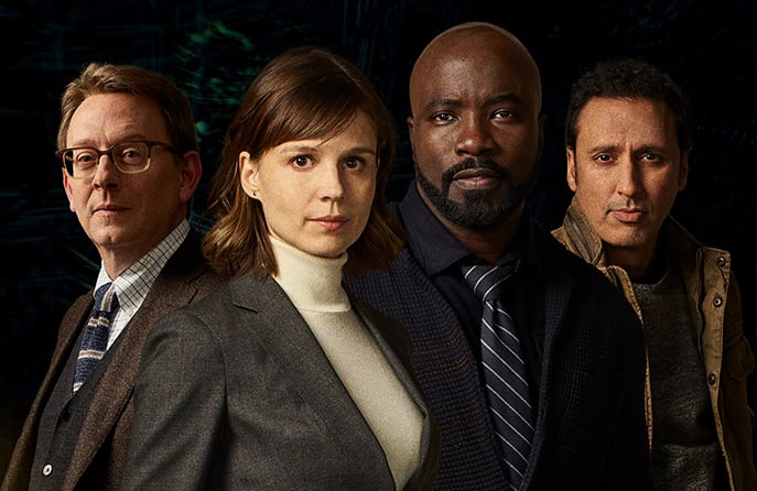 Michael Emerson, Katja Herkers, Mike Colter, and Aasif Mandvi star in Evil (CBS)