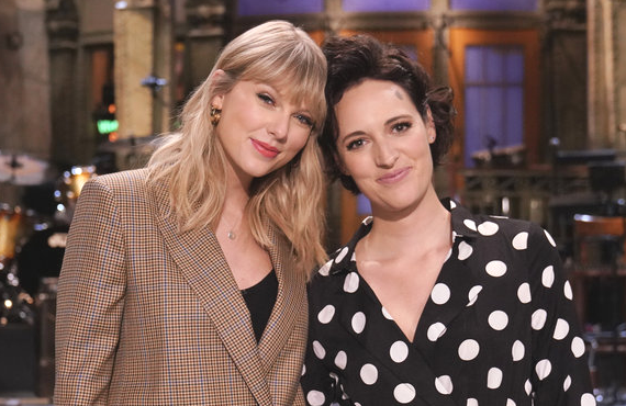 Musical guest Taylor Swift joins host Phoebe Waller-Bridge on Saturday Night Live (NBC)