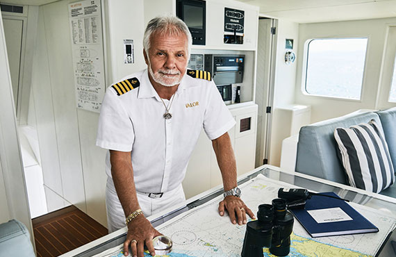 Lee Rosbach in Below Deck (photo: Karolina Wojtasik / Bravo)