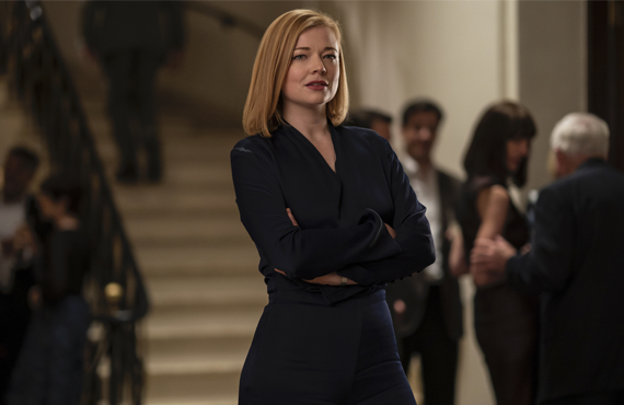 Sarah Snook strikes a pose as Shiv Roy in Succession (HBO)