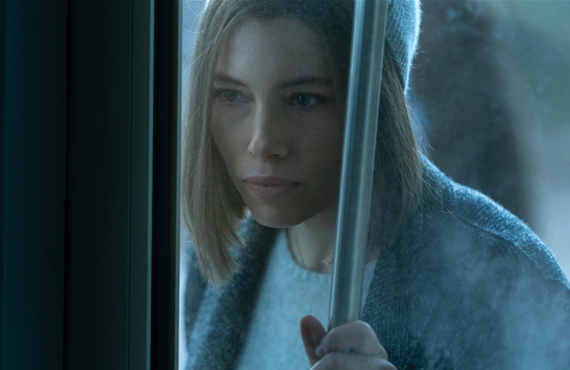 Jessica Biel stars as public radio reporter Lia Haddock in Limetown (Photo:Facebook Watch)