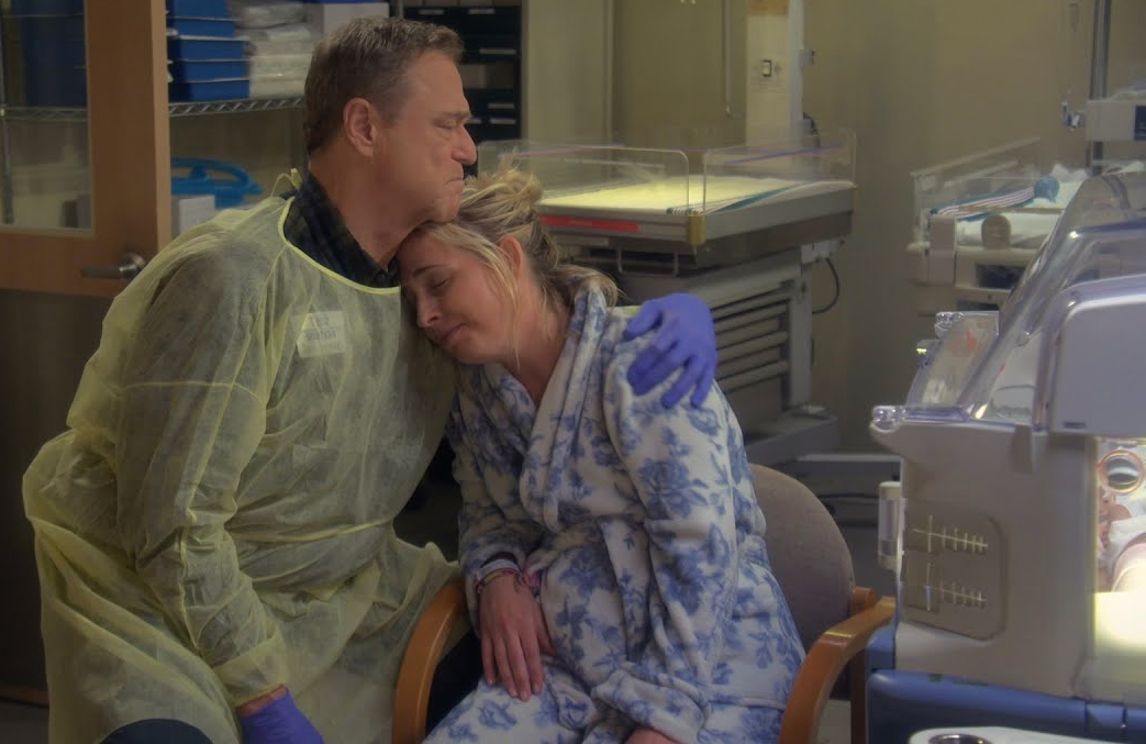 Dan (John Goodman) and Becky (Lecy Goranson) in The Conners (ABC)