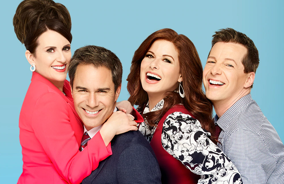Megan Mullally, Eric McCormack, Debra Messing and Sean Hayes in Will & Grace. (Photo: Andrew Eccles/NBC)
