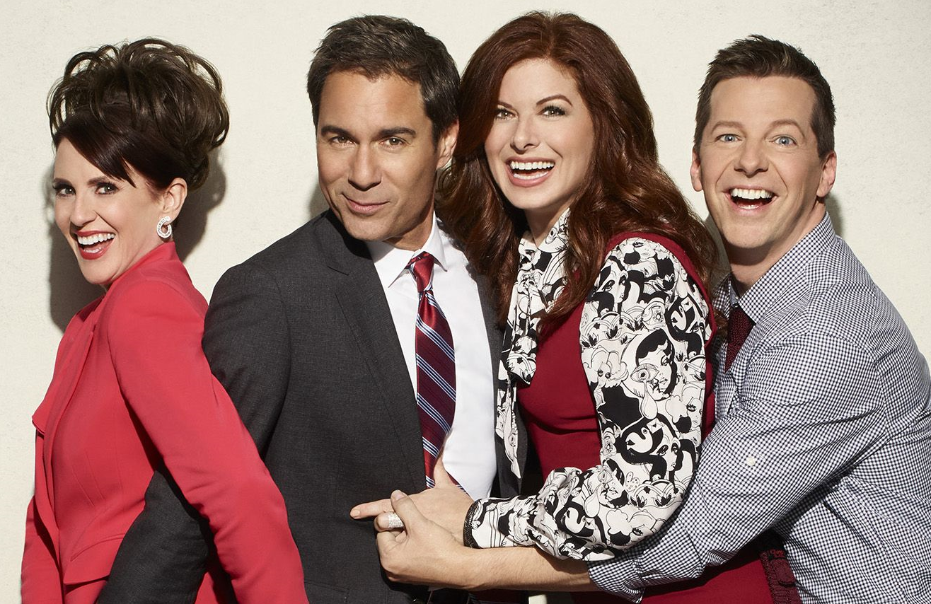 Megan Mullally, Eric McCormack, Debra Messing and Sean Hayes return in tonight's Will & Grace season premiere. (NBC)