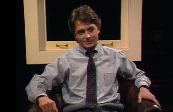 "Michael J. Fox in the 1987 Family Ties episode, ""A, My Name is Alex."""