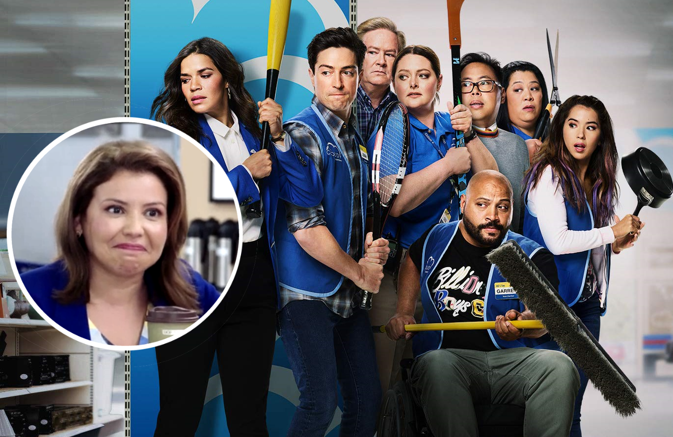 Justina Machado (One Day at a Time) boards Superstore in a recurring role as Cloud 9's new district manager. (Photos: NBC)