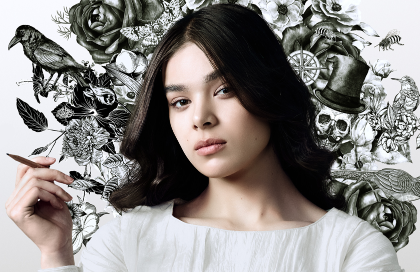 Hailee Steinfeld in a promotional photo for Dickinson (Apple TV+)