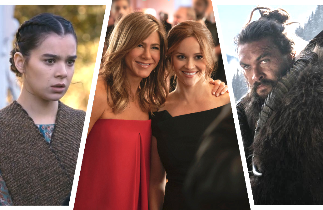 Hailee Steinfeld, Jennifer Aniston, Reese Witherspoon and Jason Momoa are three of the big names attached to Apple TV+'s star-studded launch line-up. (Photos: Apple)